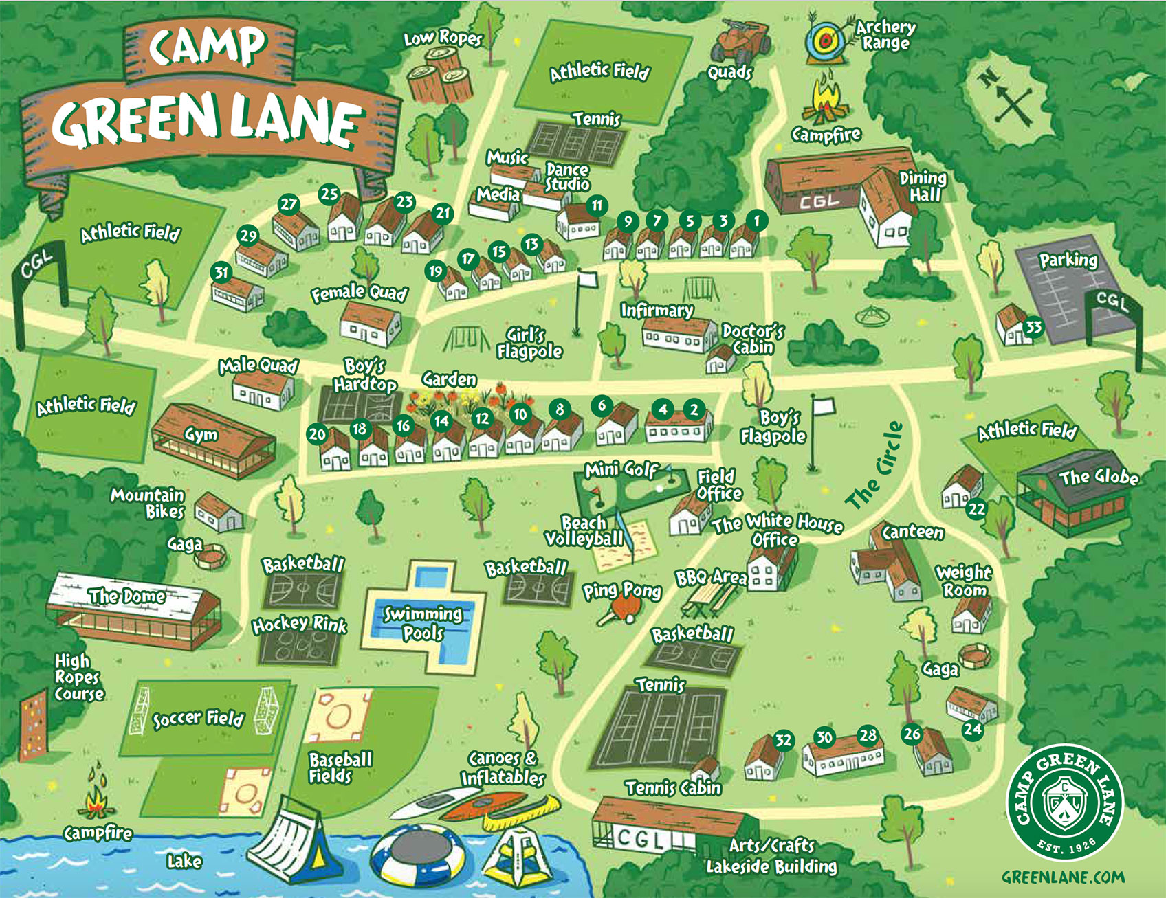 Our campus map